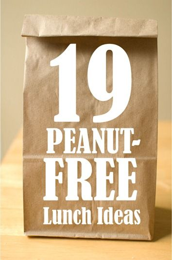 Lunch Without Nuts: 19 Simple Ideas for Peanut-Free Lunches // Not allergic...but this stuff looks yummy.