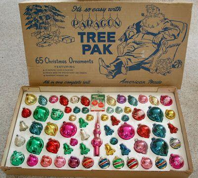 Paragon Tree Pak - Vintage Christmas ornaments