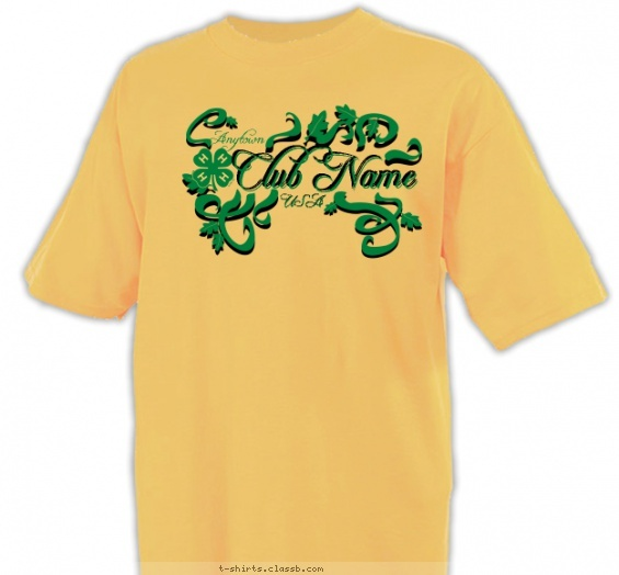 4 H Vines And Branches Shirt 4 H Club Design Sp2312 4