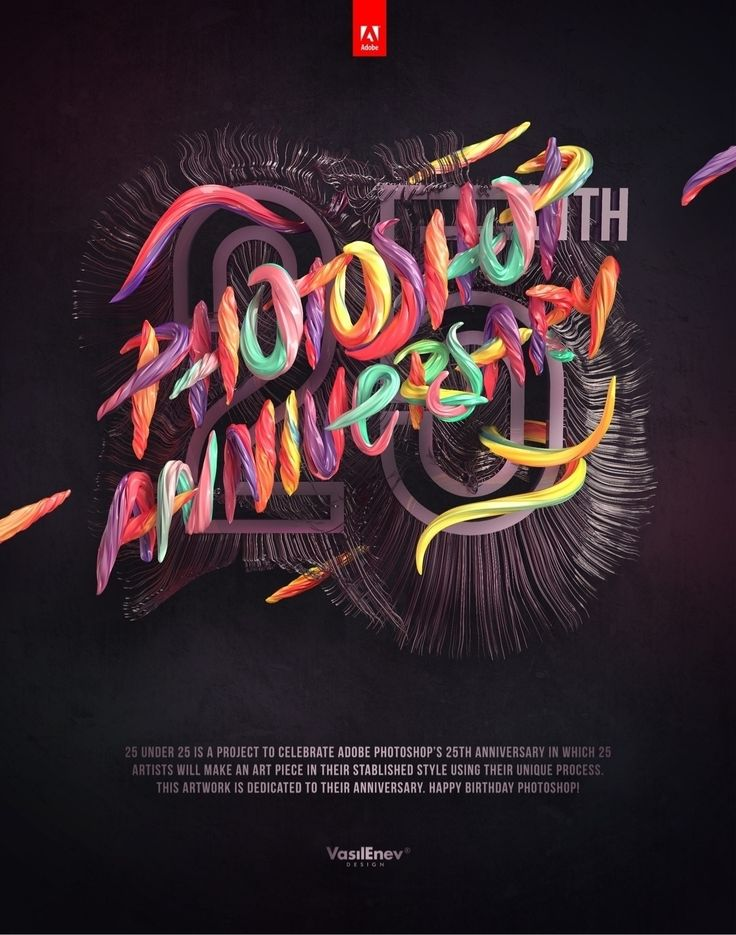 Celebrating Adobe Photoshop's 25th Anniversary! Happy Birthday Photoshop! Full Project and behind the scenes can be f...