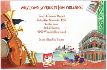 Jazz Theme Party Invitations | Kids Birthday Invitations ...