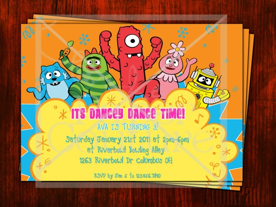 64 best yo gabba gabba party images on pinterest | yo gabba gabba, Wedding invitations