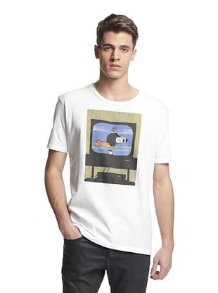 79% OFF Surface To Air Men's Classic Print Tee Shirt - Monsters (White)