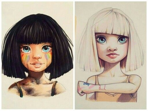 Lera Kiryakovka's drawings of Maddie Ziegler inspired by Sia's music videos