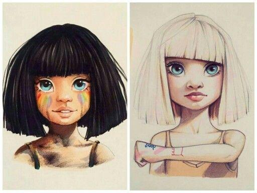 Lera Kiryakovka's drawings of Maddie Ziegler inspired by Sia's music videos