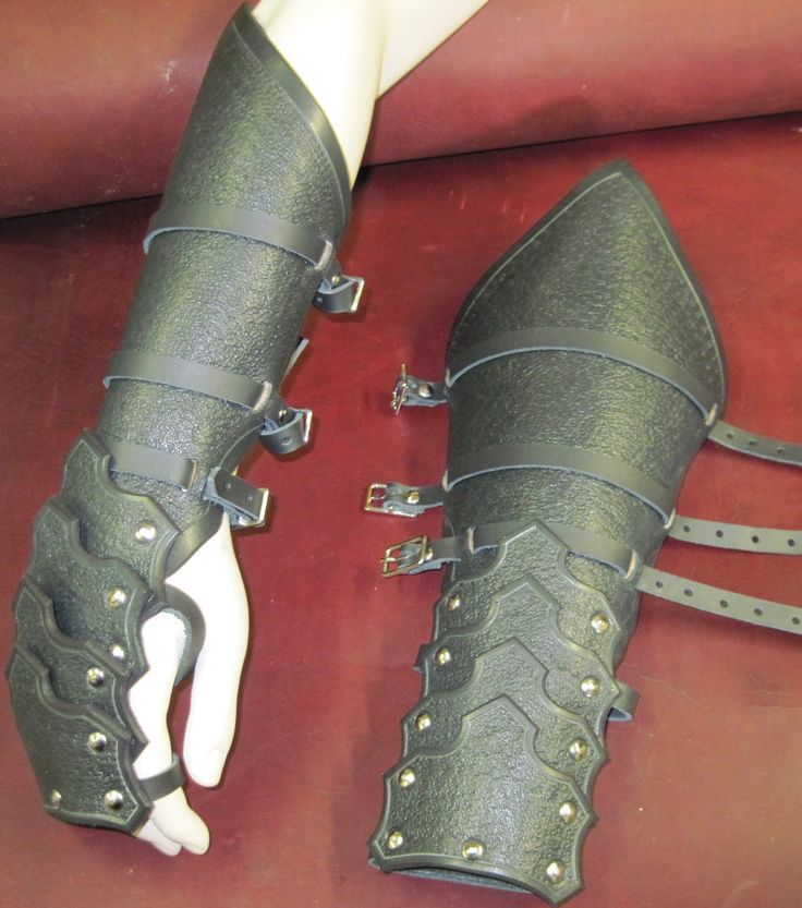 Gothic Reverse Clamshell Leather Armor Gauntlets. $89.99, via Etsy.
