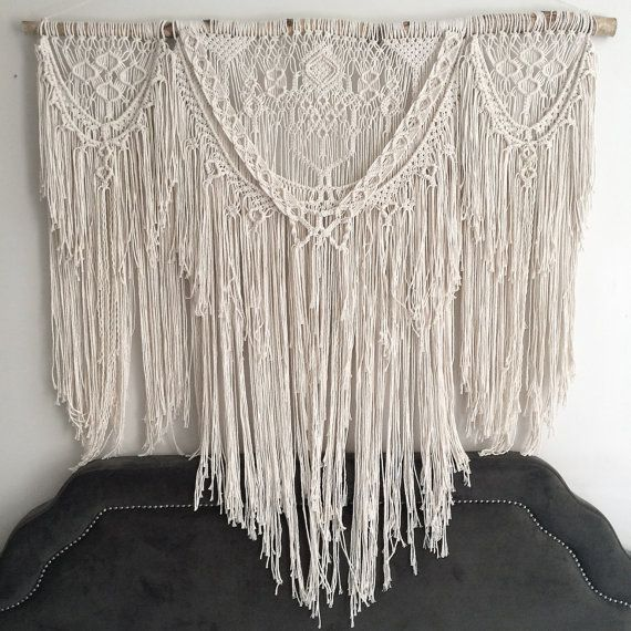 Super x large bohemian macrame wall hanging boho decor macrame curtain