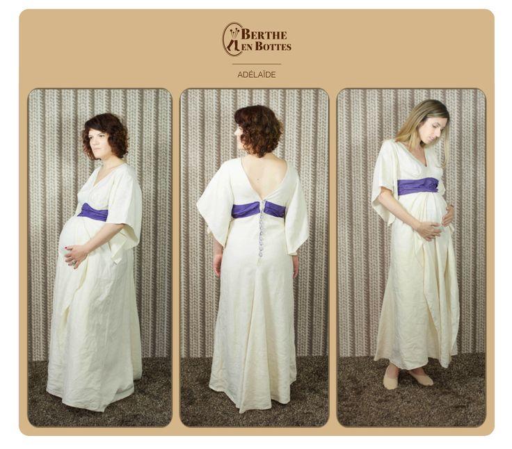 , création Berthe en Bottes. Robe de mariée pour femme enceinte ...