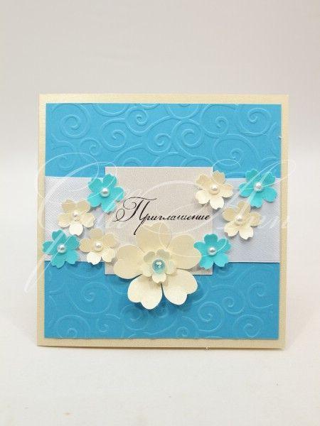 Свадебные приглашения ручной работы Gilliann Floral Breeze INV050, http://www.wedstyle.su/katalog/invitations/priglashenia-ruchnoy-raboti, #wedstyle, #свадебныеаксессуары, #приглашениянасвадьбу, #пригласительныенасвадьбу