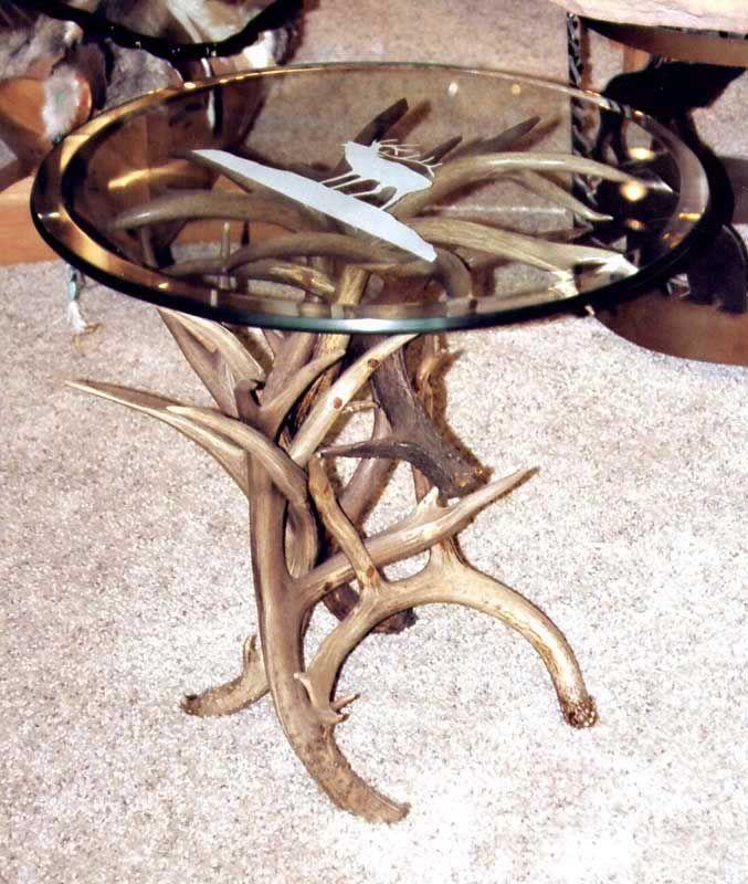 Antler Craft End Table Round Deer