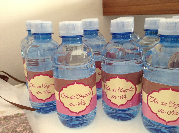 Bridal shower - personalized water bottles