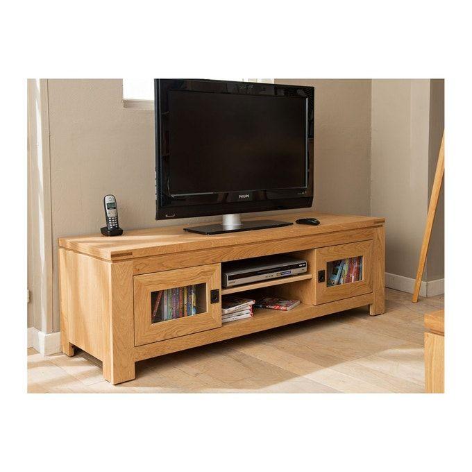 Meuble Tv Bas Moderne En Chene Clair Boston Chene Clair Hellin Depuis 1862 La Redoute En 2020 Meuble Tv Bas Meuble Tv Meuble Tv Design