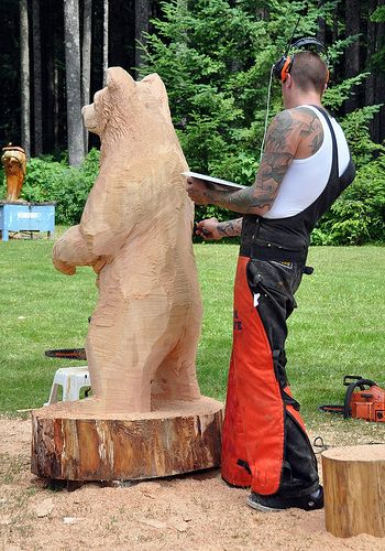 Art in park bear carving pinterest chainsaw