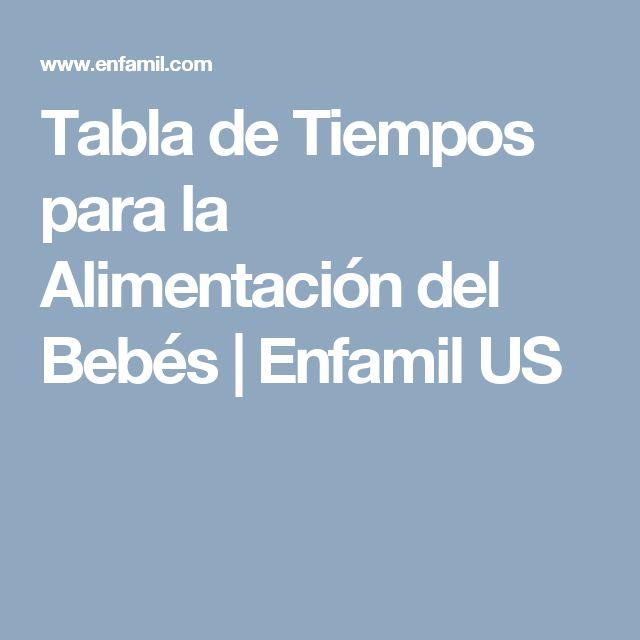 Tabla de Tiempos para la Alimentación del Bebés   Enfamil US