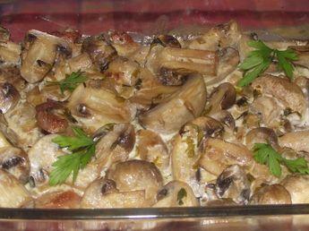 Gombás sertésszelet a sütőből jó sok tejföllel! Mennyei falatok, tökéletes vacsora!