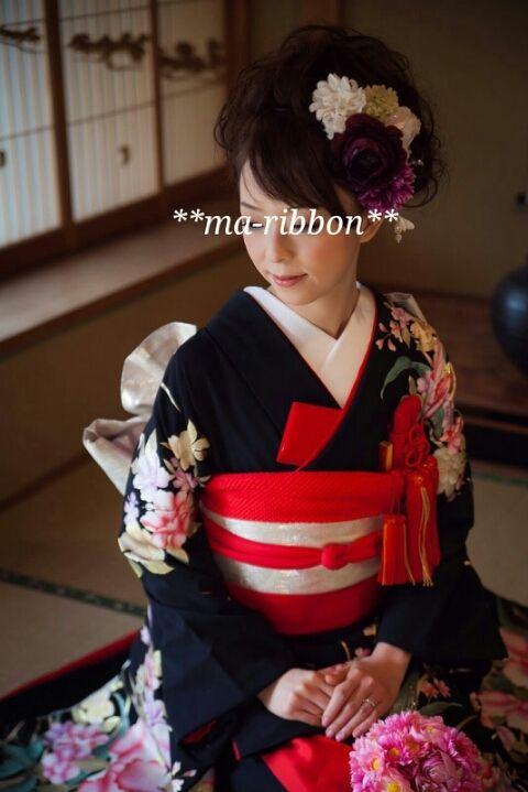 前撮り@華雅苑 ② ~黒引振袖~|ma-ribbonのブログ