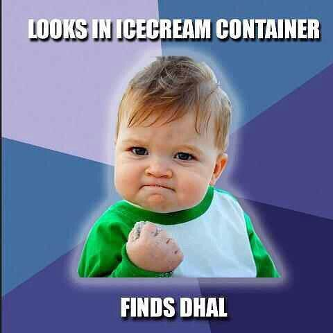 Desi problems #icecream #dhal #desiproblems