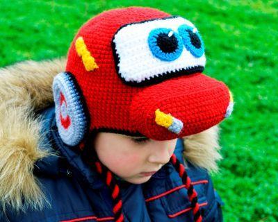 Купить прикольная детская шапка тачка молния маквин для мальчика веселые теплые шапочки Смешапки Россия Екатеринбург