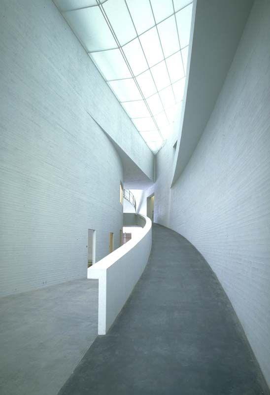 Steven Holl, lobby, Kiasma Museum of Contemporary Art. Architecture. Helsinki, Finland, 1998.