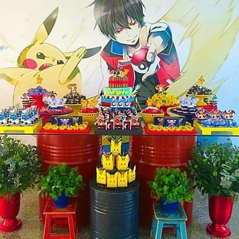 #mulpix Painel para o tema Pokemon em lona fosca Decoração: @marcelamunizfestas arrasou morena linda!!!!!! #decoraçãoinfantil #festainfantil #festasinfantis #pokemon #festademenino #ideias #painel #tendencia #kids #instakids #partykids #partydecor