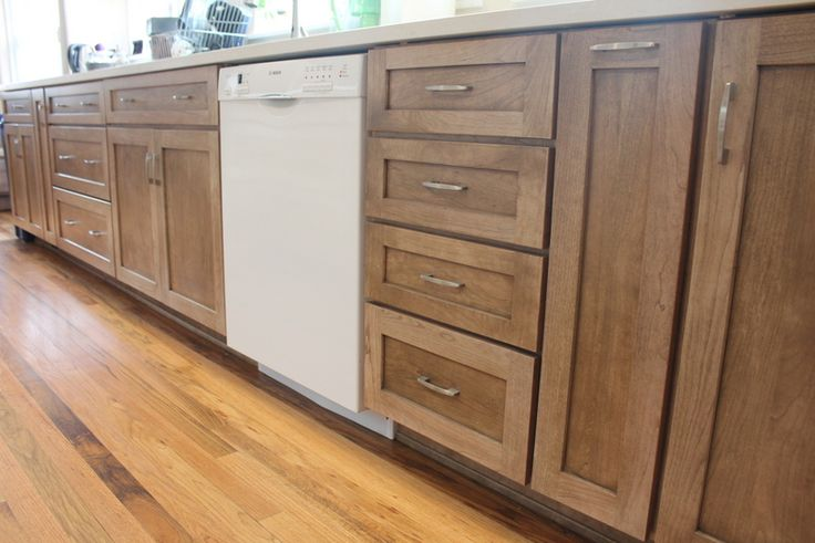 Cherry wood cabinets with a cappuccino stain our for Cappuccino kitchen cabinets