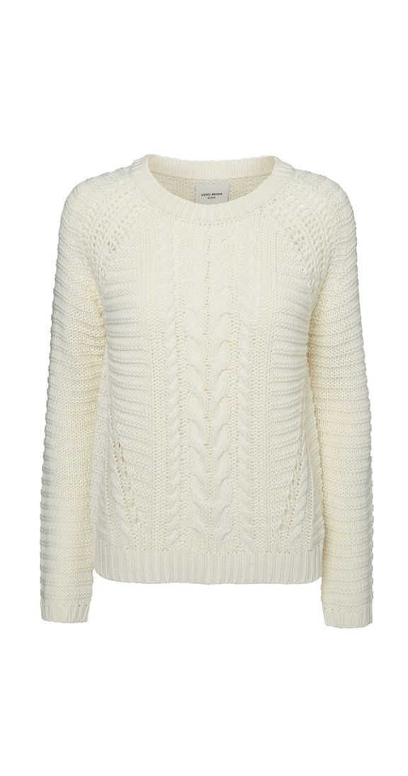 Cable knit sweater - great layering piece, soft yarn, not itchy ☺