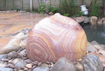 Rainbow Sandstone Sphere 200mm
