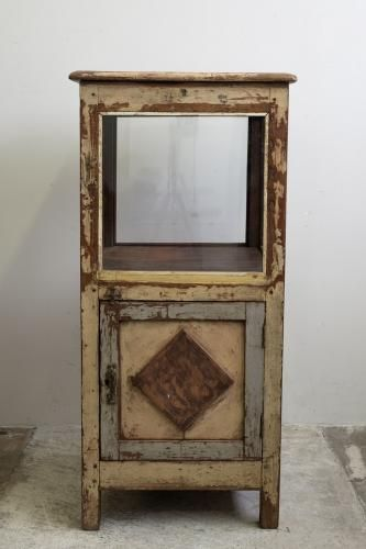 Indian Teak and Glass Display-Case for sale at Pamono