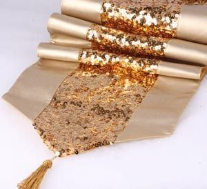 #140 2013 new arrival promotion PU& Sequin table runner mat luxury design 30*200cm min1pcs freeshipping wholesale $27.90