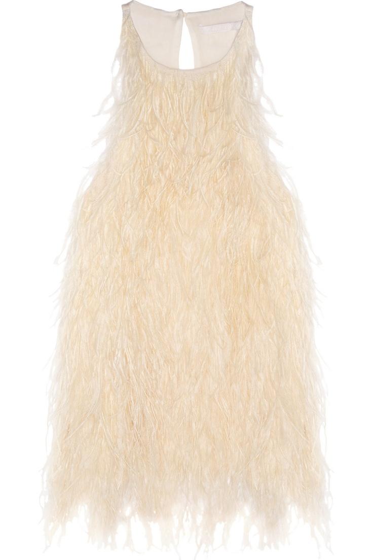 ANTONIO BERARDI  Feathered silk-crepe top