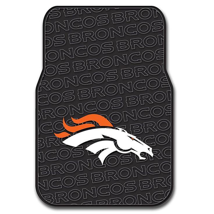Officially Licensed NFL Car Front Floor Mat - Broncos