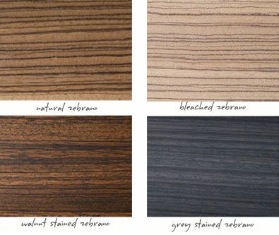 Different Treatments On Zebra Wood Project Pleasant In