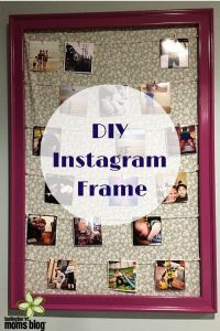 DIY Instagram Frame | Burlington VT Moms Blog
