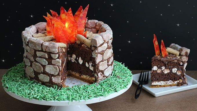 Fire Pit S'mores Cake Recipe - Tablespoon.com