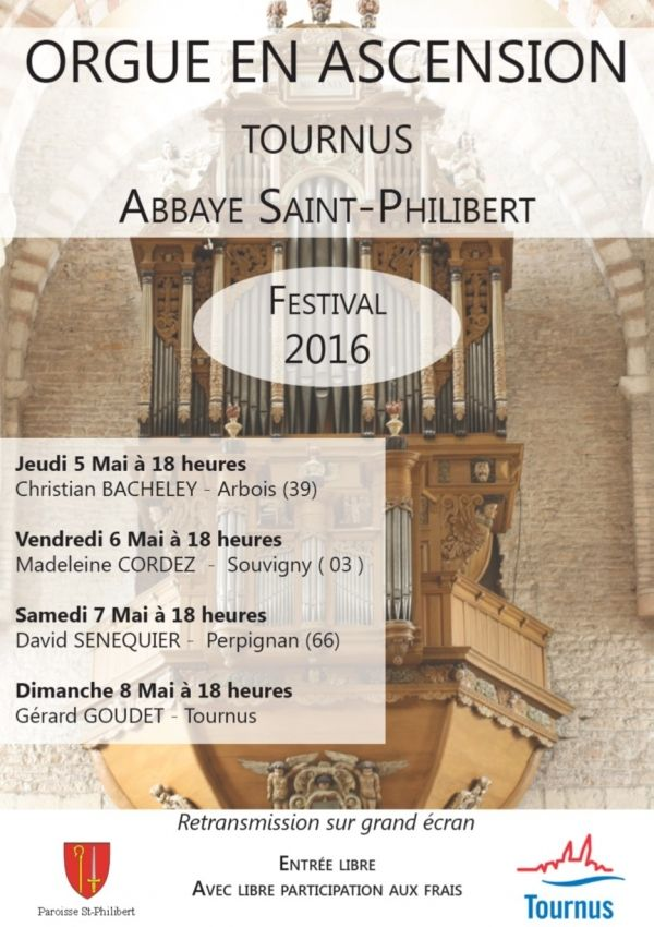 Tournus : concert d'orgue à l'abbatiale Saint-Philibert.