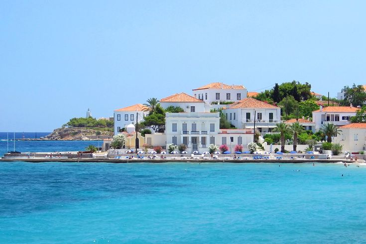 TRAVEL'IN GREECE | Spetses port, city view, #Attica, #Greece, #travelingreece