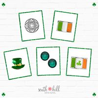 A charm pack for St. Patricks dat. A screen, 3 charms, and 2 crystals for $26.18. www.southhilldesigns.com/kkennedy