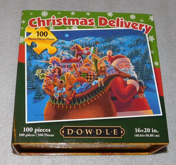 Christmas Delivery Santa Claus Dowdle Toys Jigsaw Puzzle 100 Pieces 16x20 USA #Dowdle