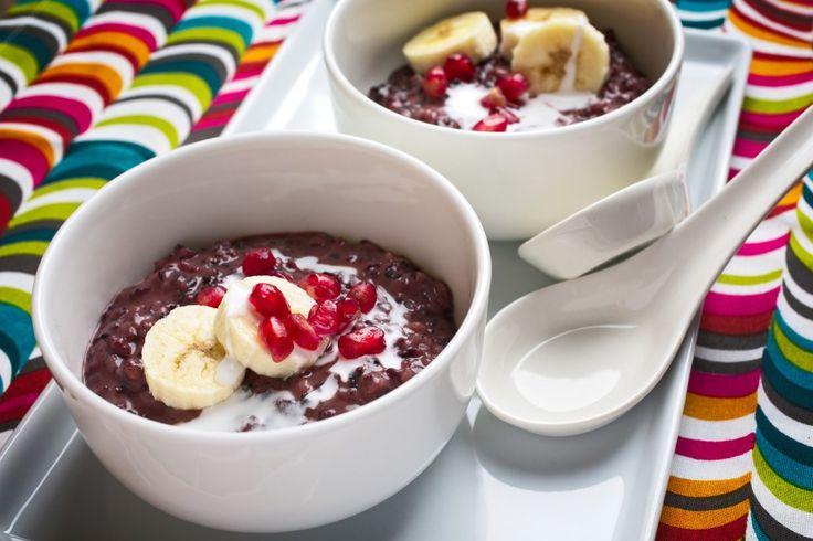 Black Rice, Banana and Coconut Breakfast Bowls