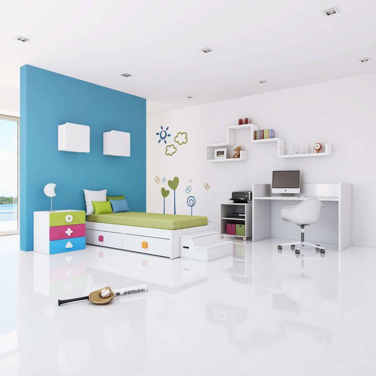 Cunas convertibles en habitaciones infantiles completas para niños y niñas colección Maths: original, divertida y llena de color. ¡Os encantará!