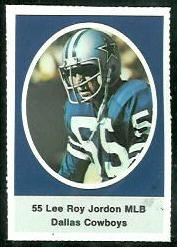 lee roy jordan football cards | Lee Roy Jordan 1972 Sunoco Stamps football card