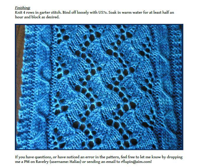 Lace Knitting Pattern #4 | Lace Knitting Stitches