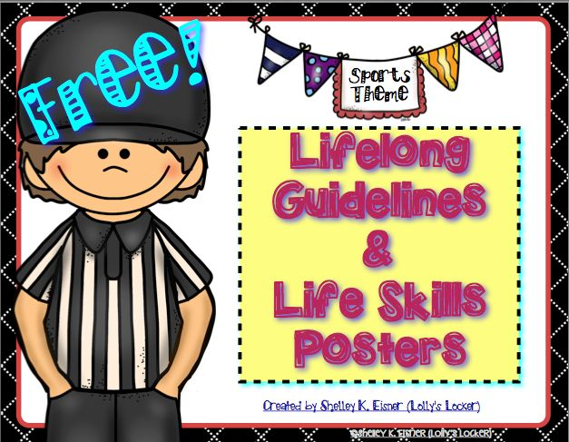 free lifelong guidelines life skills sports theme posters our