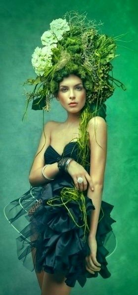 Moss hat anyone? HAIR...long beautiful hair! A 2 C
