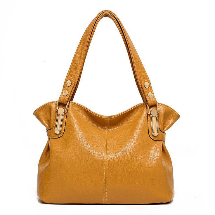 Hot Sell Hobos bags female tote women handbag 2017 Fashion Large Capacity Bolsas Feminina De Marca Famosa Solid Shoulder Bag