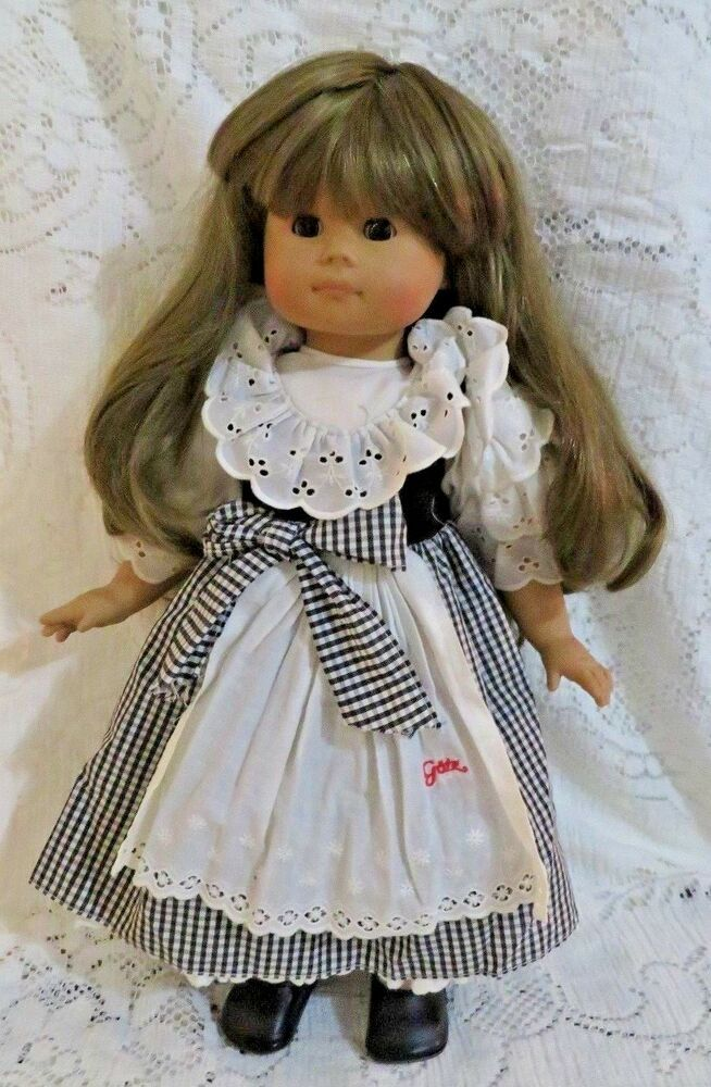 c5e17137152 Vintage Gotz Character Doll Made in Germany, Long Brown Hair And Eyes 18