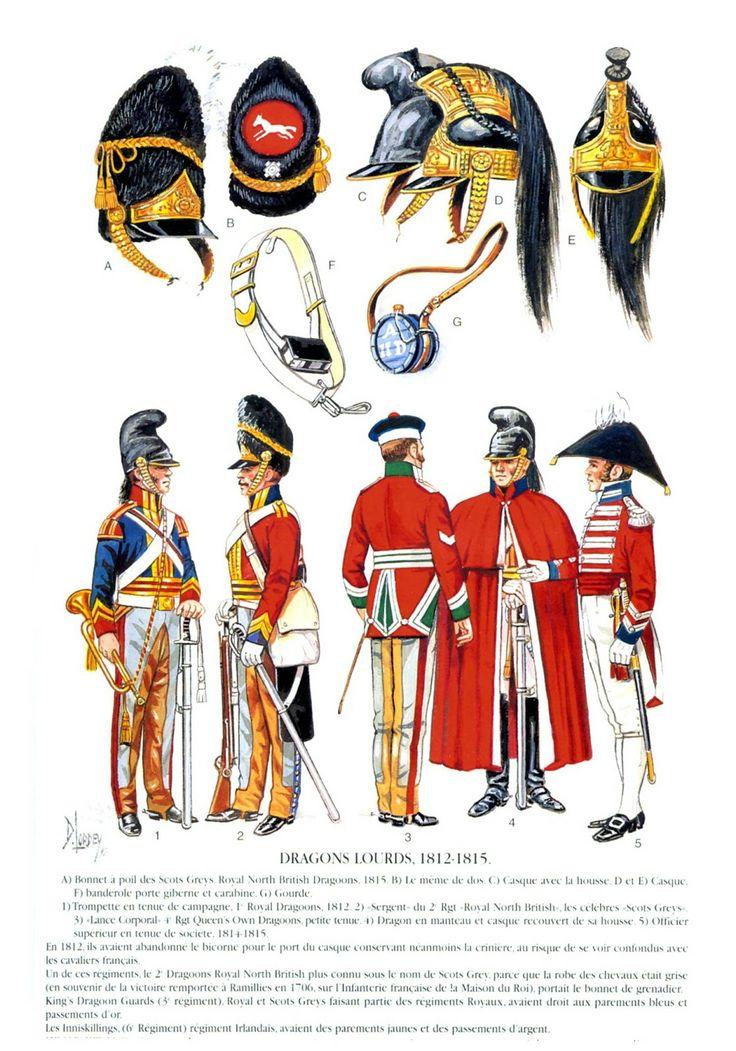 Uniformes militares británicos 18001820 Casacas Rojas