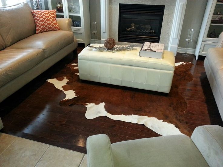 Brown with white cowhide