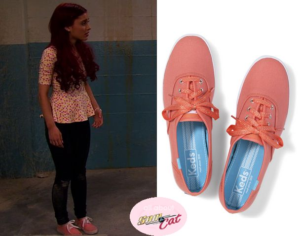 cute shoe in this season | They are the Keds Champion Sparkle lace in Melon Coral. Buy them HERE ...