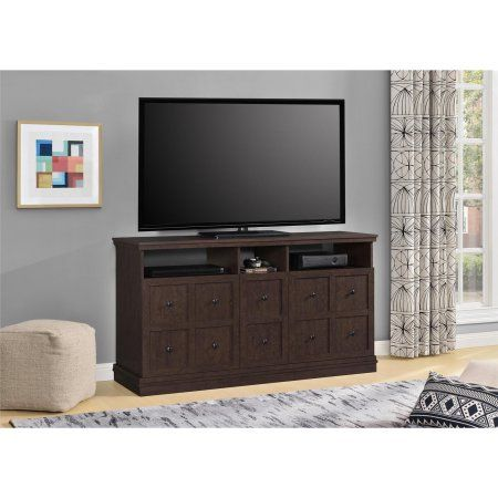 Ameriwood Home Cooper Apothecary 55 inch TV Stand, Espresso